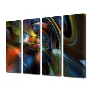 Tablou Multicanvas 4 Piese Abstract